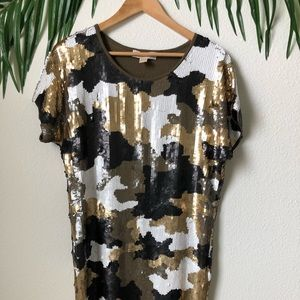 Michael Kors sequin Army dress